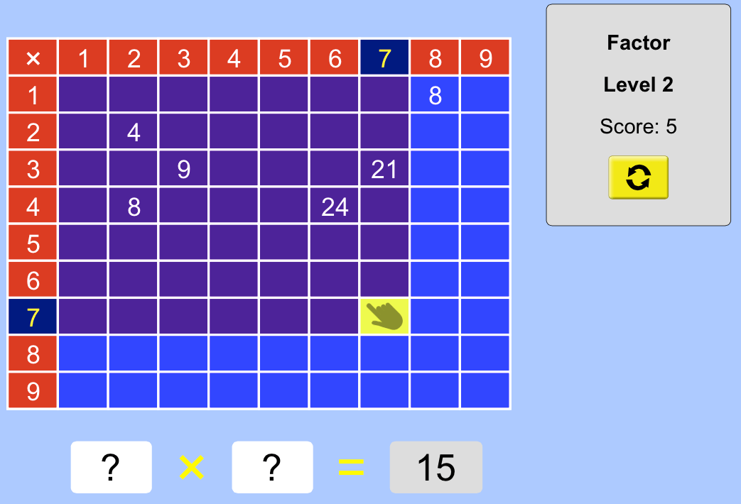 Arithmetic : A brilliant online times tables activity…