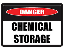 Chemical-storage-sign