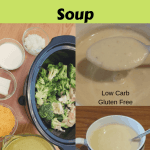 Crock Pot Broccoli Cauliflower Cheese Soup collage