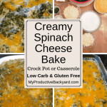 Creamy Spinach Cheese Bake collage