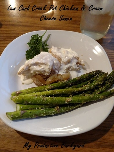 Low Carb Crock Pot Chicken & Cream Cheese Sauce