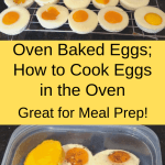 Oven Baked Eggs collage