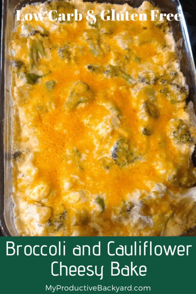 Broccoli and Cauliflower Cheesy Bake