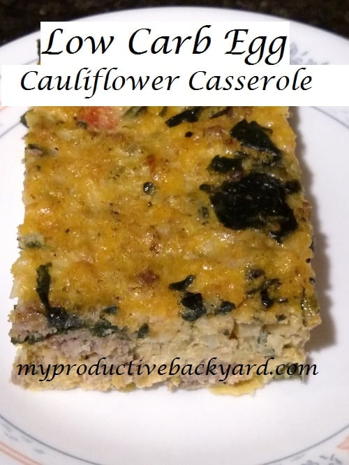 Low Carb Egg Cauliflower Casserole