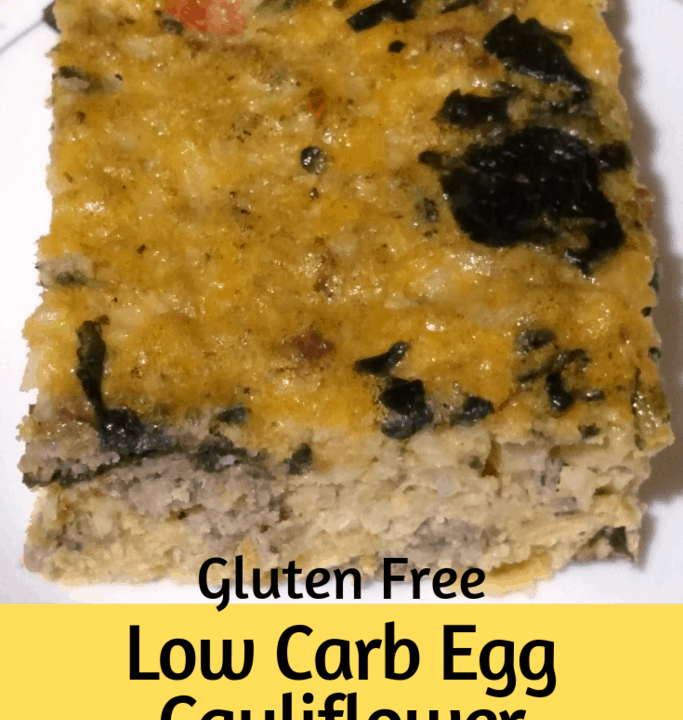Low Carb Egg Cauliflower Casserole