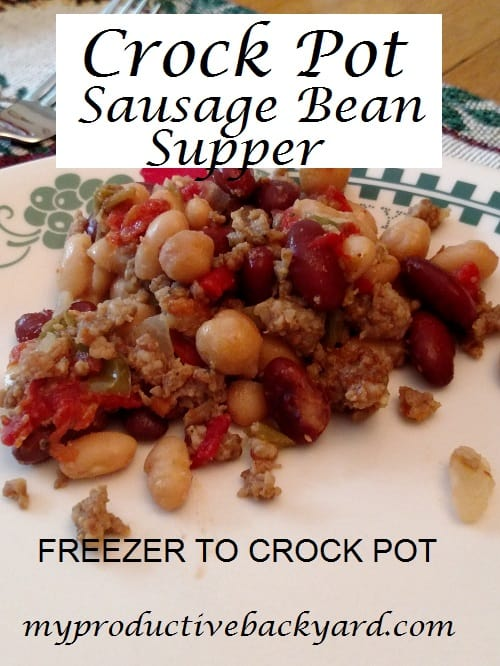 Crock Pot Sausage Bean Supper