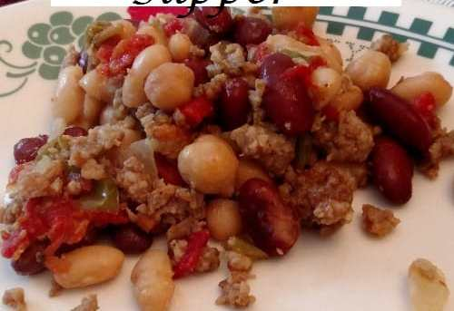 Crock Pot Sausage Bean Supper