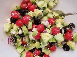 Greek Cucumber Avocado Salad