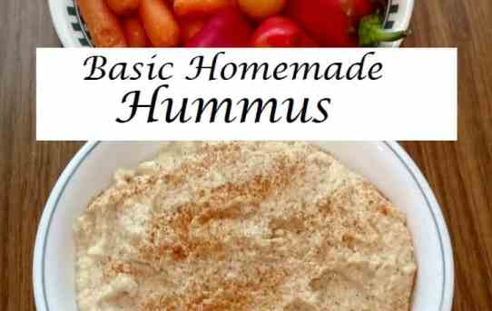 Basic Homemade Hummus