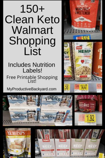 150+ Clean Keto Walmart Shopping List