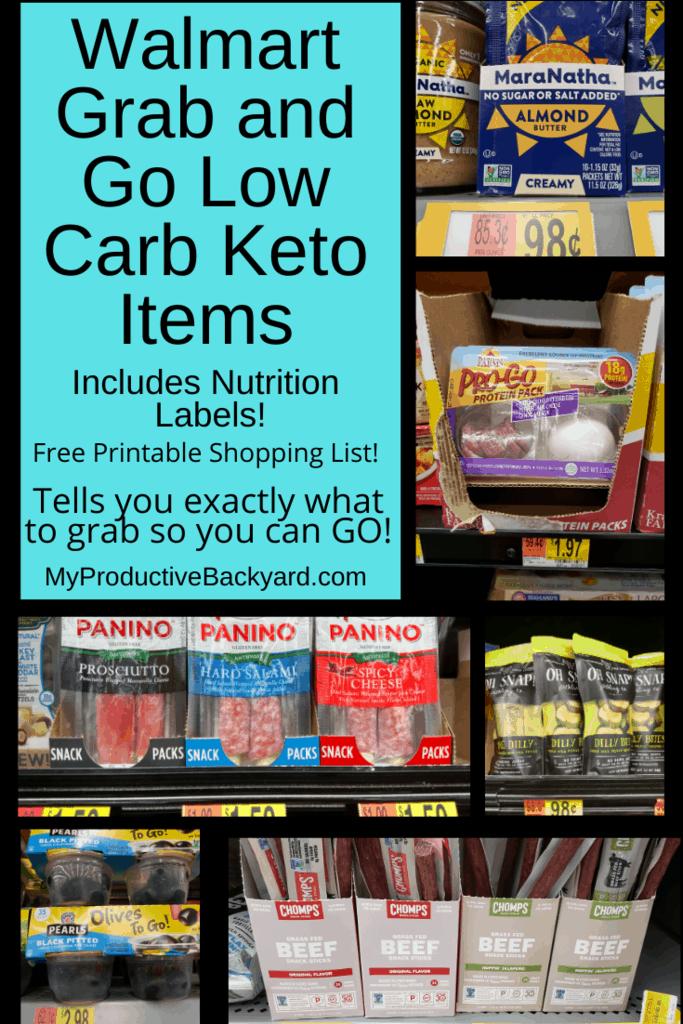 Walmart Grab and Go Low Carb Keto Items