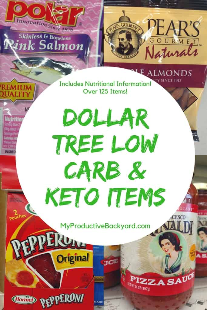 Dollar Tree Low Carb and Keto Items - My Productive Backyard