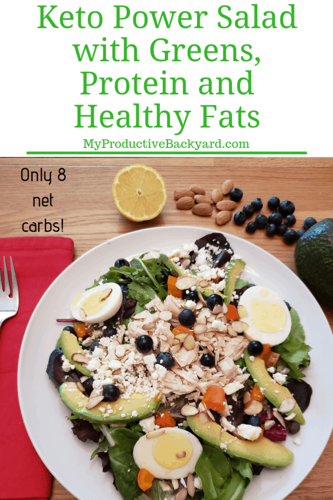 Keto Power Salad with Greens, Protein and Healthy Fats