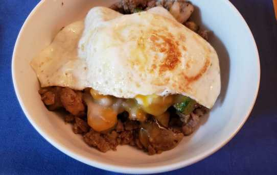 Keto Sausage Breakfast Bowl