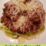 Keto Zoodles with Meatballs and Marinara Sauce