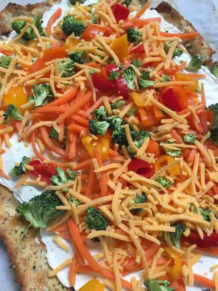 Cold Low Carb Veggie Pizza