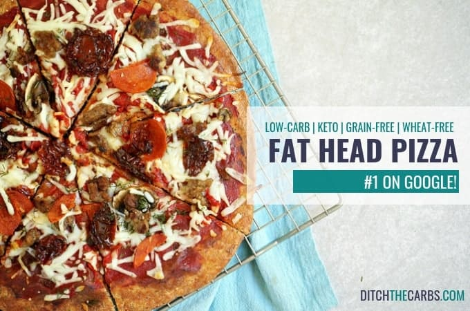 How to make Fat Head Pizza - PLUS cooking video