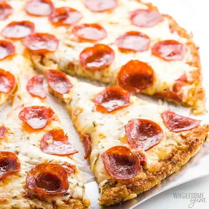 Easy Low Carb Cauliflower Pizza Crust Recipe - 3 Ingredients