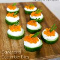Caviar and Cucumber Bites