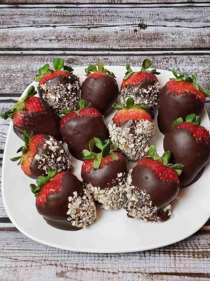 Keto Chocolate Covered Strawberries