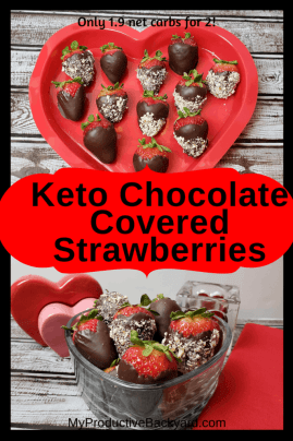 Keto Chocolate Covered Strawberries collage