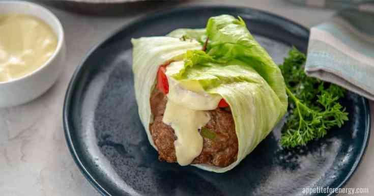 Best Lettuce Wrapped Bunless Keto Pork Burger
