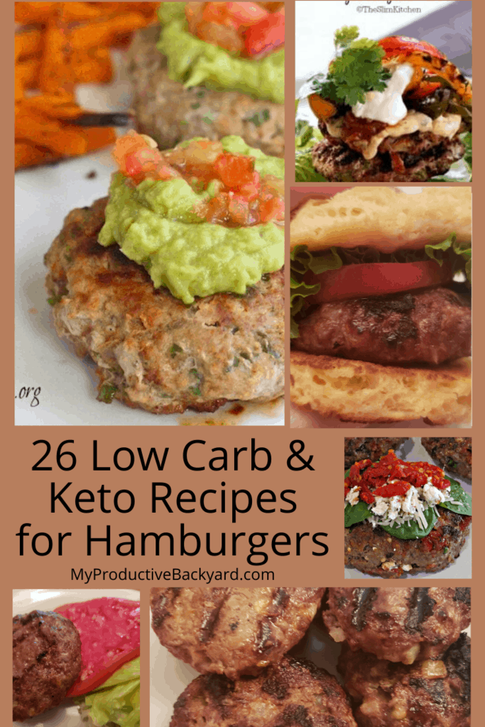 Low Carb Keto Recipes for Hamburgers collage