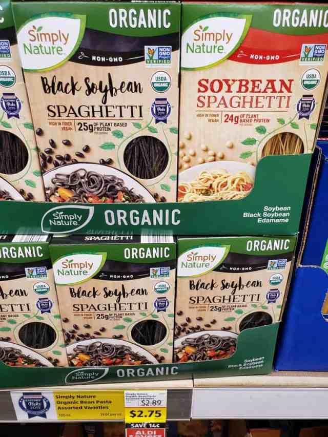 Simply Nature Organic Bean Pasta in store