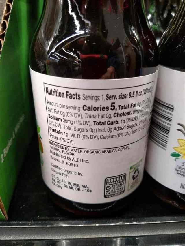 Cold Brew Coffee label
