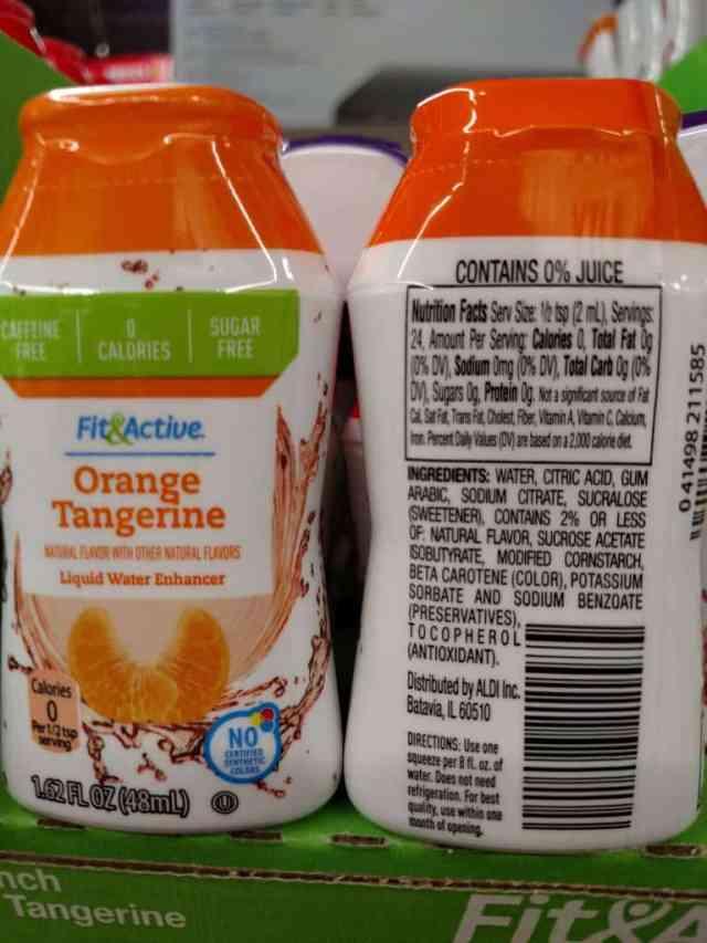 Fit & Active Liquid Water Enhancers orange label