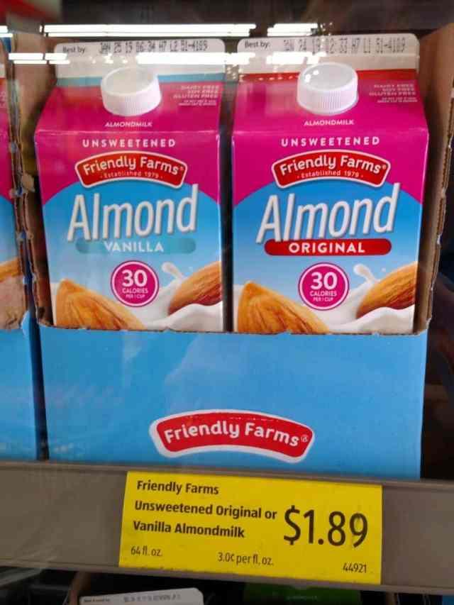 Unsweetened Almond Milk in store