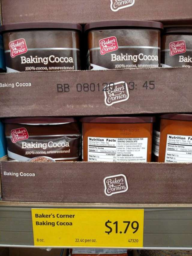 Baking Cocoa in store