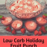 Low Carb Holiday Fruit Punch