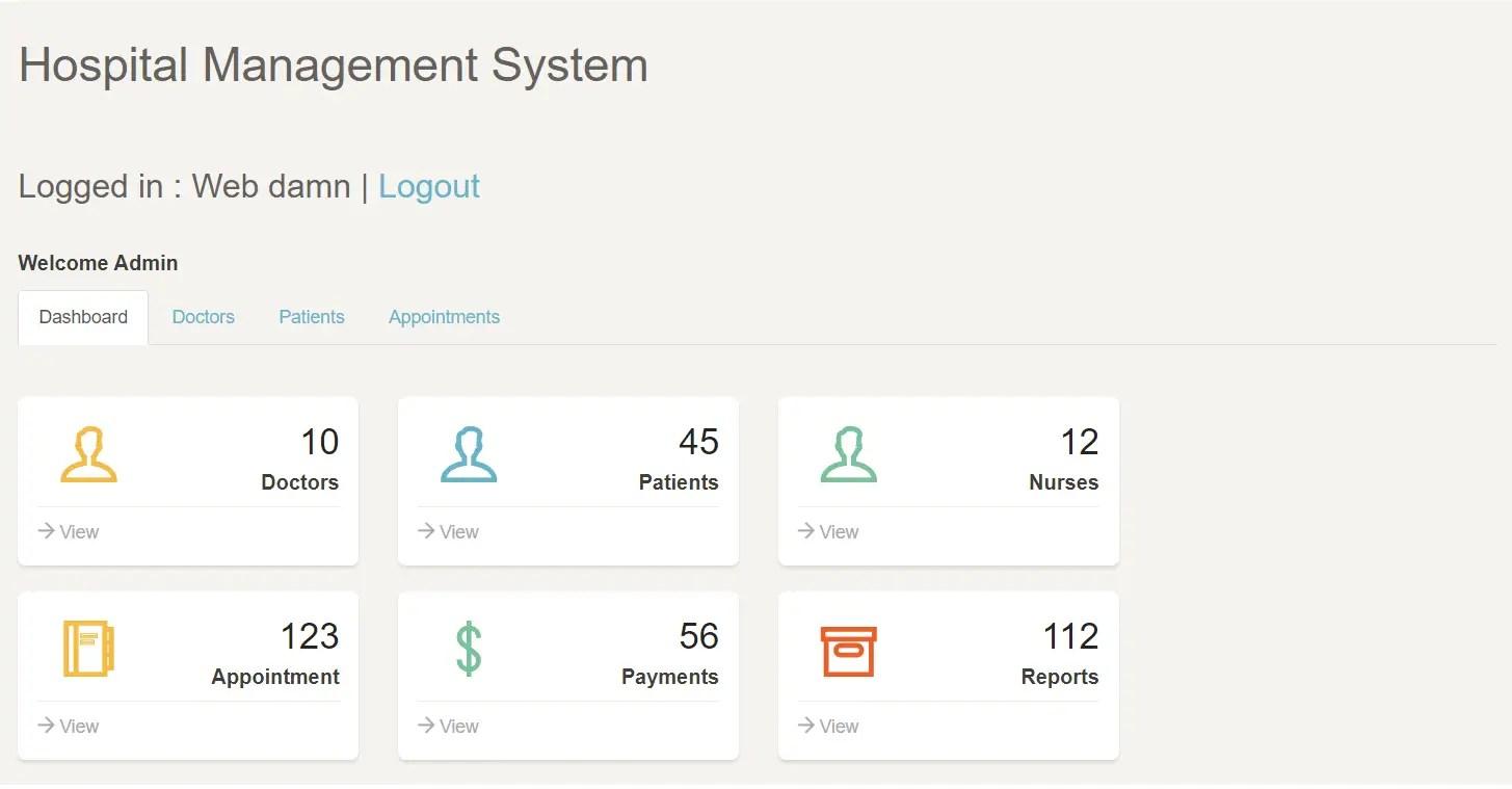 Hospital Management System with PHP & MySQL
