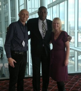 Rachel & Mike with Frank Bruno