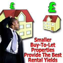 Smaller Buy-To-Let Properties Provide The Best Rental Yields