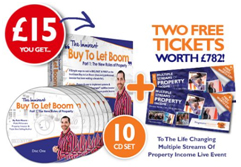 "Buy ""Buy To Let Boom"" CD set + get free Multiple Streams Of Property Income Event tickets HERE!"