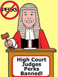 High Court Judges Lose Perks In Lodgings