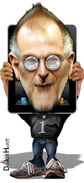 Illustration of Steve Jobs
