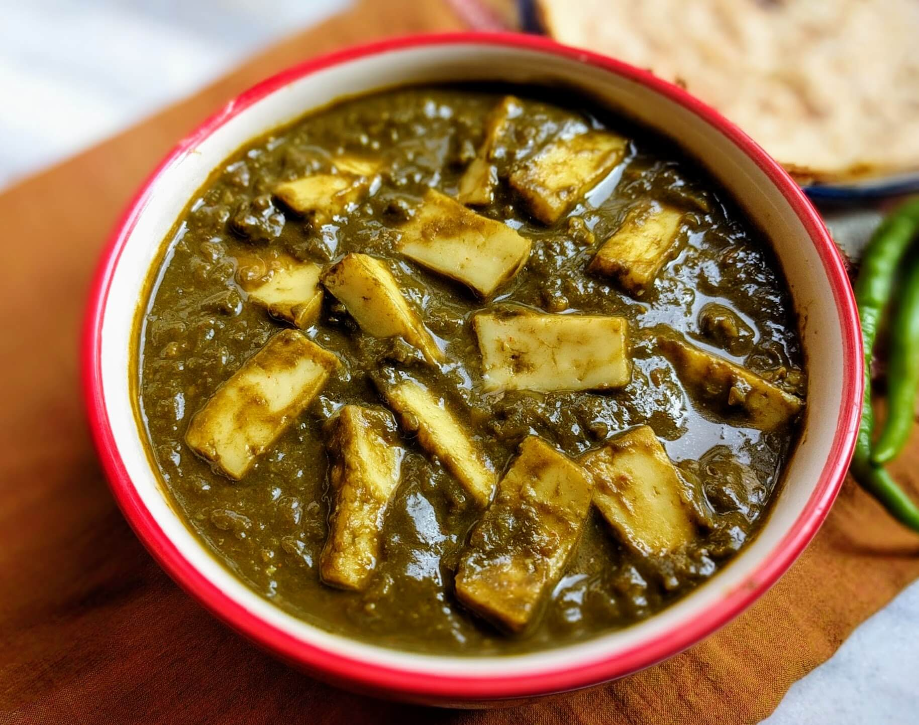 Palak Paneer Recipe   Spinach Curry with Paneer   VegeCravings Palak Paneer Recipe   Spinach Curry with Paneer