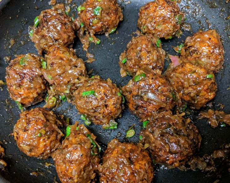 Veg Manchurian Dry Recipe Step By Step Instructions 9