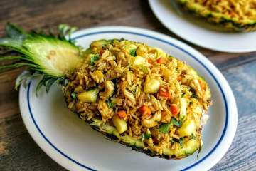 Thai Pineapple Fried Rice Recipe Step By Step Instructions