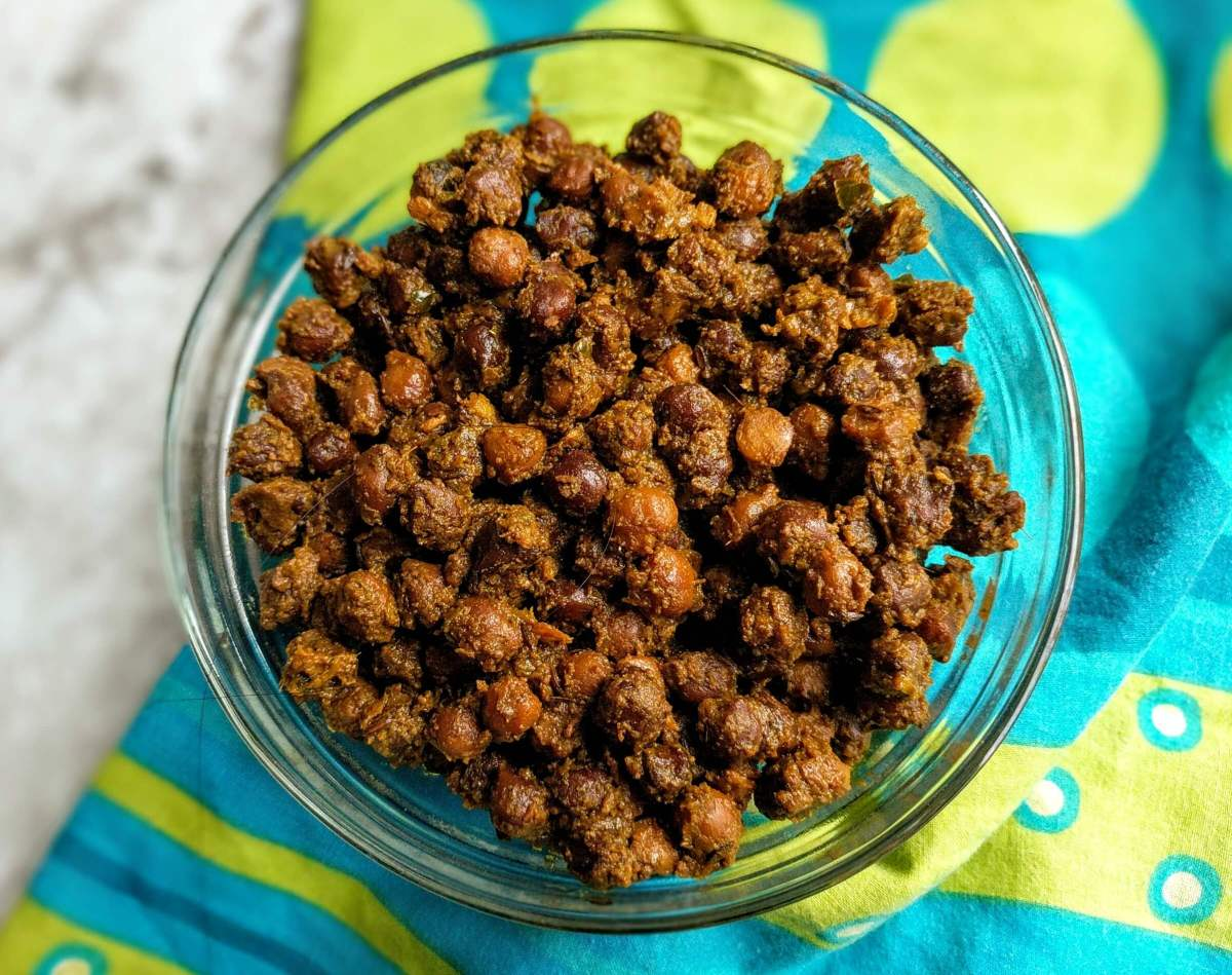 Sookhe Kale Chane Recipe | Dry Black Chickpeas Curry