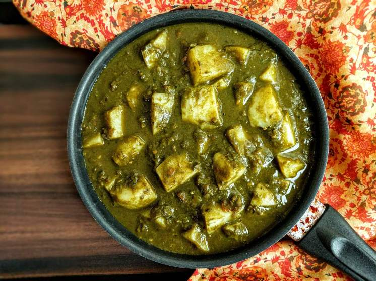 Aloo Palak Gravy Recipe Step By Step Instructions