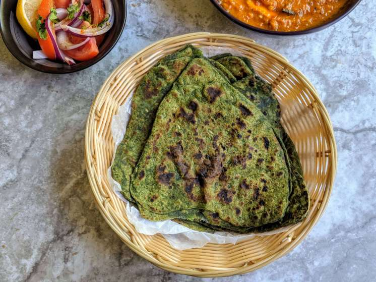 Palak Paratha Recipe Step By Step Instructions