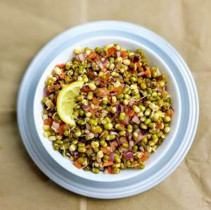 Sprouted Moong Dal Salad Recipe Step By Step Instructions 1