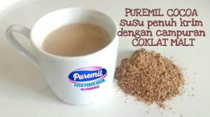 Susu Puremil Coklat Dengan Campuran Malt