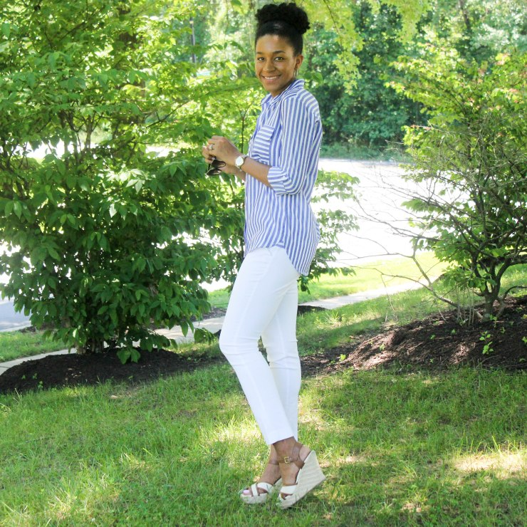Express Top BR White Pants-5