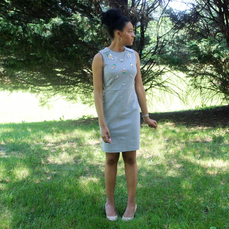 Gray Jewel Dress-3