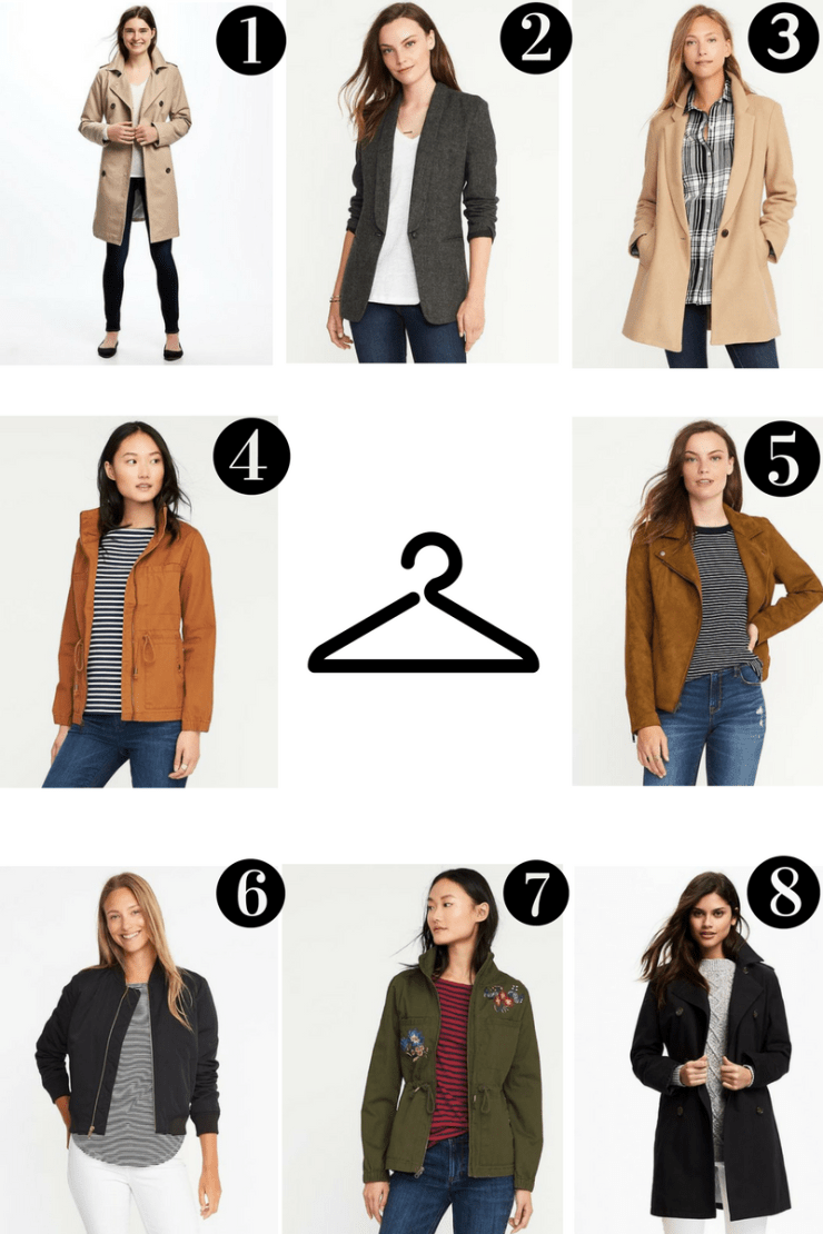 Numbers of Old Navy Outerwear Wish List